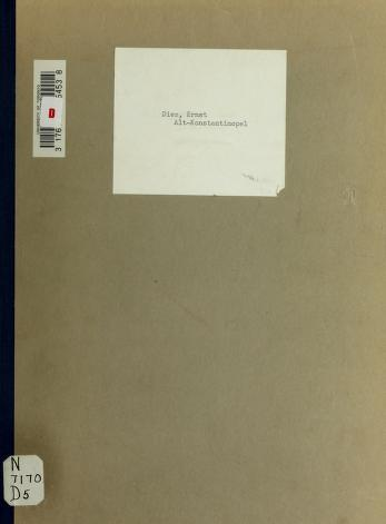 Cover of: Alt-Konstantinopel   Ernst Diez