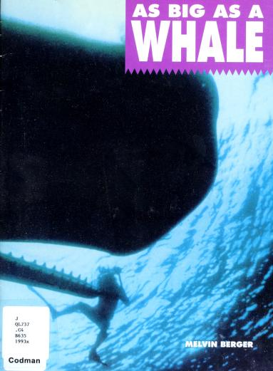 As big as a whale by Melvin Berger